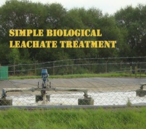 How do you treat leachate - a simple example image showing a biological LTP