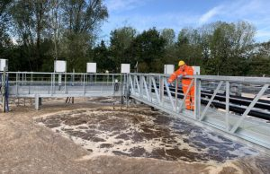 Leachate treatment plant refurbishment sampling.