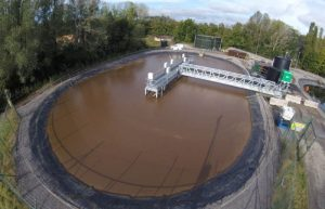 Leachate treatment plant refurbishment view.